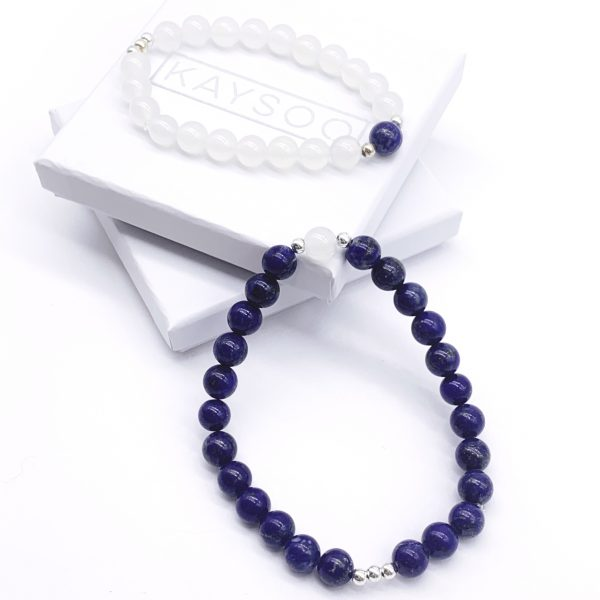 Lapis Lazuli and White Agate Kaysoo 'Togetherness'